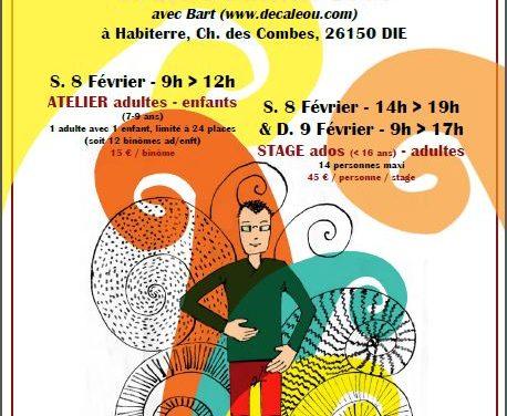 Stages de percussions corporelle à Die le 8-9 février